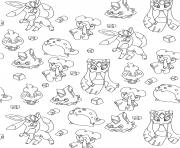 Coloriage pokemon glaces adulte par art therapie