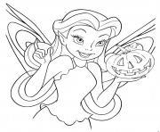 Disney Halloween Princesse avec une citrouille dessin à colorier
