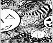 Coloriage adulte halloween pattern difficile