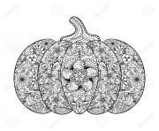 citrouille pour halloween adulte zentagle dessin à colorier