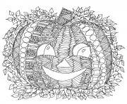 adulte halloween citrouille dessin dessin à colorier