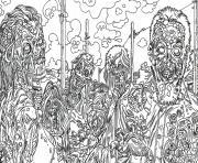 halloween adulte zombie art ville de zombie dessin à colorier