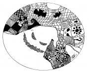 halloween mandala adulte fantome dessin à colorier