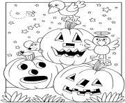 halloween maternelle facile citrouilles dessin à colorier