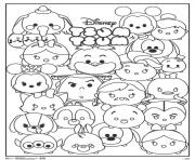 tsum tsum disney personnages dessin à colorier