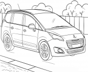 Coloriage voiture mustang dessin