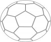 ballon de foot soccer dessin à colorier