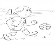 foot facile joueur enfant dessin à colorier