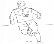 Coloriage cristiano ronaldo foot football