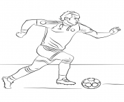 Coloriage gareth bale foot football