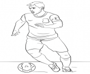 Coloriage sergio aguero foot football