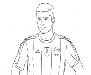 robert lewandowski foot football dessin à colorier
