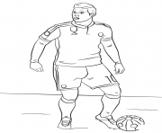 Coloriage james rodriguez foot football
