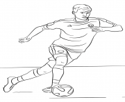 Coloriage thomas muller foot football