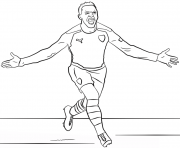 alexis sanchez foot football dessin à colorier