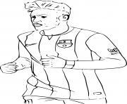 neymar fc barcelone dessin à colorier