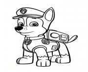 chase de pat patrouille portrait dessin à colorier
