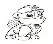 ruben de pat patrouille portrait dessin à colorier
