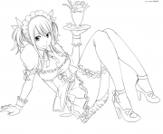 Coloriage fairy tail sexy lucy heartfilia fantasia