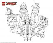 Coloriage ninjago le film mechants ninjagos lego