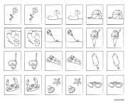 jeu de memoire a imprimer colorier et jouer dessin à colorier