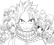 Coloriage fairy tail le film