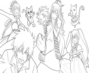 Coloriage fairy tail team by xubeix