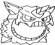 Coloriage mega oniglali pokemon