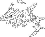 Coloriage mega steelix pokemon