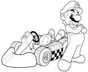 mario kart formule 1 voiture dessin à colorier