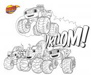 Coloriage voiture blaze 3 monster machines vroom vroom