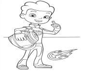 AJ Pilote de Blaze 2 dessin à colorier