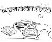 voiture darington blaze dessin à colorier