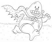 capitaine bobette est tres rapide dessin à colorier