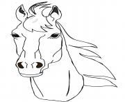 Coloriage cheval de face portrait