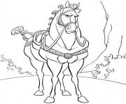 cheval disney maximus dessin à colorier