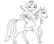 Coloriage cheval et poney dessin