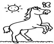 cheval facile maternelle enfant dessin à colorier