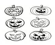 halloween citrouilles 2018 dessin à colorier