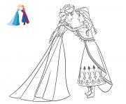 Coloriage La Reine Des Neiges à Imprimer Gratuit Sur Coloriage Info