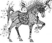 cheval zentangle circus horse jani freimann dessin à colorier