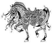 difficile cheval majestueux dessin à colorier