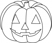Coloriage Citrouille Halloween Facile Simple Enfant