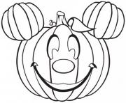 citrouille halloween disney mickey dessin à colorier