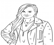 Coloriage demi lovato celebrite star