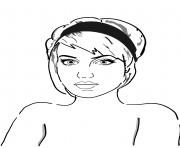 sara x mills celebrite star dessin à colorier