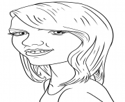Taylor Swift Funny dessin à colorier