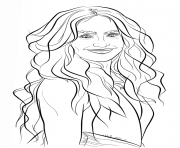 Coloriage jennifer lopez celebrite star