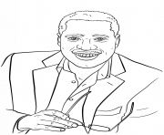 Coloriage larry elder celebrite star