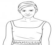 emma watson celebrite star dessin à colorier